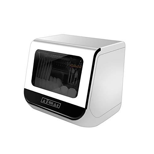 Lavavajillas portátil de encimera, lavaplatos compacto de mesa con tanque de agua incorporado de 15 L, pantalla LED de 3 programas de lavado y función de secado al aire para la cocina del hogar