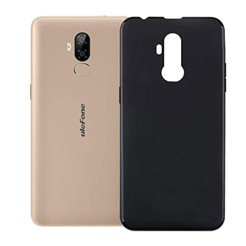 HHUAN Funda para Ulefone P6000 Plus Negro Cover Ultrafino Suave Silicone Caso de Protección Anti-Rasguño TPU Bumper Carcasa Case para Ulefone P6000 Plus (6.0