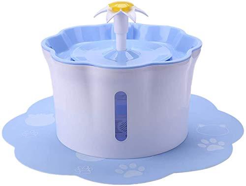 JFZCBXD 2.6L Automatische Katze-Wasser-Brunnen Hund Wasserspender Kleintiere Trinkbrunnen mit Kissen,Blau