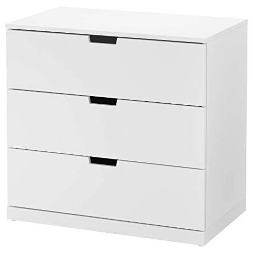 IK IKEA Nordli - Cómoda con 3 cajones, Color Blanco, 80 x 76 cm