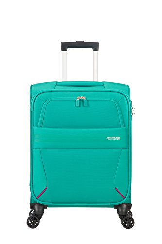 American Tourister Summer Voyager Spinner 55/20 Bagaglio a mano, 55 cm, 36 liters, Verde (Peacock)