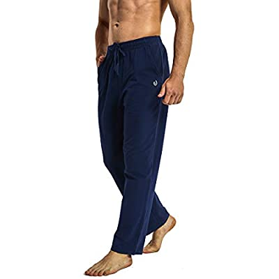HARTPOR Men's Joggers Sweatpants Athletic Yoga Pants Casual Loose Fit Running Sweat Pants with Pockets Straight Leg Navy XXL