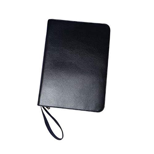 #N/A Black Leather Pen Protector Storage Holder Bag Pen Cases for 48 Pens