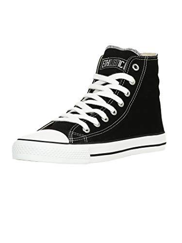 Ethletic Unisex Sneaker Hi Fair Trainer White Cap Jet Black   just White 39 Fair   Vegan   Nachhaltig