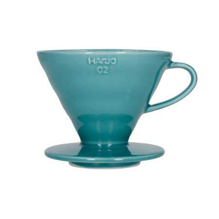 HARIO V60-02 x Kaffeekanne, Glas, 300 milliliters, Türkis