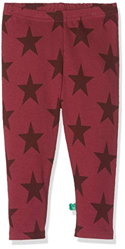Fred'S World By Green Cotton Star Leggings Baby Bébé Fille, Rouge (Bordeaux 019172401) 68