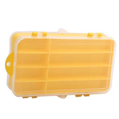JKLBNM Fischereiausrüstung Köder Box Tragbare Outdoor-Double-Sided Storage Water Umweltfestem Kunststoff Angelgerät Box,Weiß