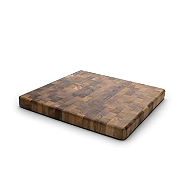 Ironwood Gourmet 28218 Square Charleston End Grain Chef's Board, Acacia Wood