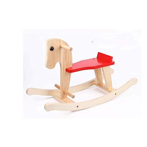 La mano de obra de primera clase brinda una divers Niños sólidos de madera para niños Rocking Horse Baby Rocking Silla Paseo en juguetes para niños y niñas Caballos Paseo de bebé en juguetes