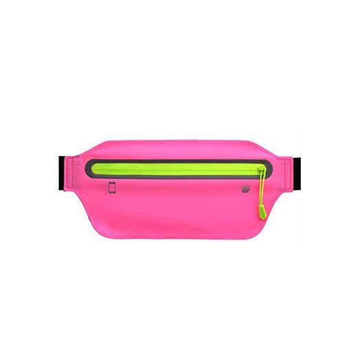 Waterdichte Running Fanny Pack Sportuitrusting Vita met gat voor Night Running koptelefoon reflecterende strepen verstelbaar unisex voor smartphones tot 6,5 inch