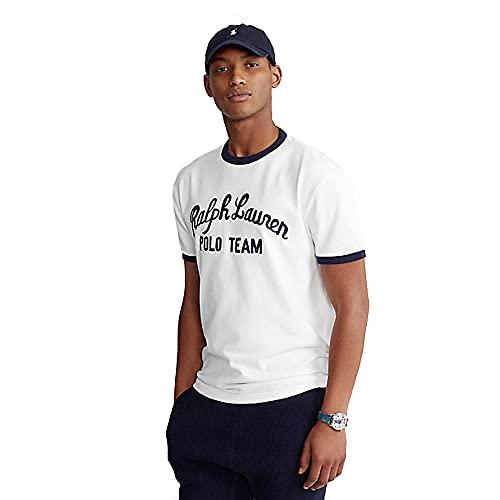 Polo Ralph Lauren Camiseta para Hombre Polo Team 566405 (M, White)