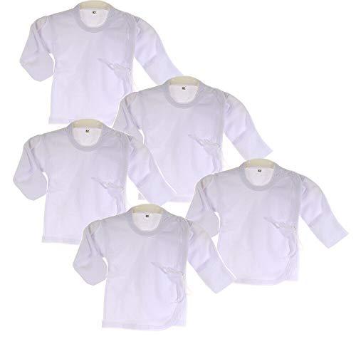 La Bortini Hemdchen 5er Set Paket Baby Wickelshirt Wickelhemdchen Erstlingsshirt Flügelhemd (56)
