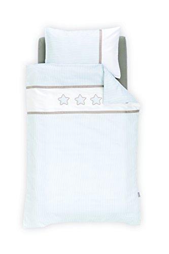 Träumeland tt16303 Parure de lit Rêve étoiles bleu 80 x 80 cm