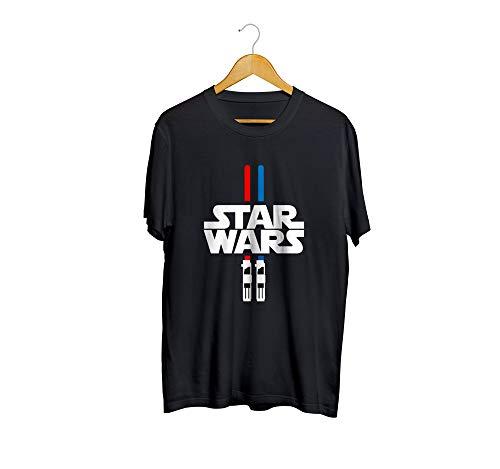 Camiseta Camisa Sabre de Luz Masculino Preto Tamanho:G