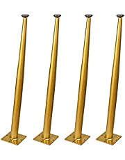 WYBW Meubels Ondersteuning Voeten,4 Meubelpoten, Meubelvoeten Tafelpoten Schuine Cone Meubels Ondersteuning Benen Bureau Dressing Tafel Meubels Hardware DIY Vervanging Voeten (Black70Cm)