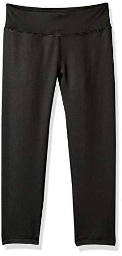 Amazon Essentials Active Capri Leggings für Mädchen, Black, US XS (EU 104-110 CM)
