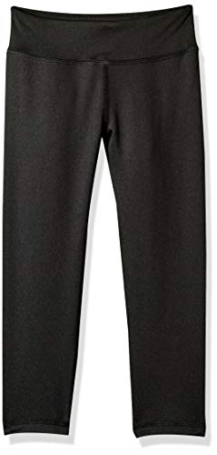 Amazon Essentials Active Capri Legging, leggings-pants Fille, noir, 14-16 Jahre (Taille fabricant: US XXL )