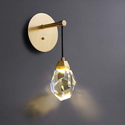 HHKQ Lámpara de Pared de Cristal Interior, Altura Ajustable Aplique de Pared LED 5W 3000K Moderno Luz de Pared para Sala de Estar Dormitorio Comedor Decoración