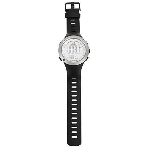 LYJL Sunroad Angeln Barometer Uhr-wasserdichte Altimeter Thermometer Uhren Schwarz Auf (weiß)
