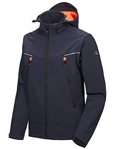 Little Donkey Andy Herren Skijacke Wasserdicht Bergjacke mit abnehmbaren Ärmeln Winter Winddicht Schnee Kapuze Regenjacke Blau Größe XL