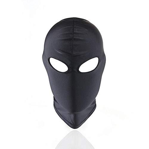 JIAHAO Rollenspiel-Kostüm für den gesamten Kopf, Kopfbedeckung, Kopfbedeckung, Augenbinde für Damen und Herren, nur offene Augen