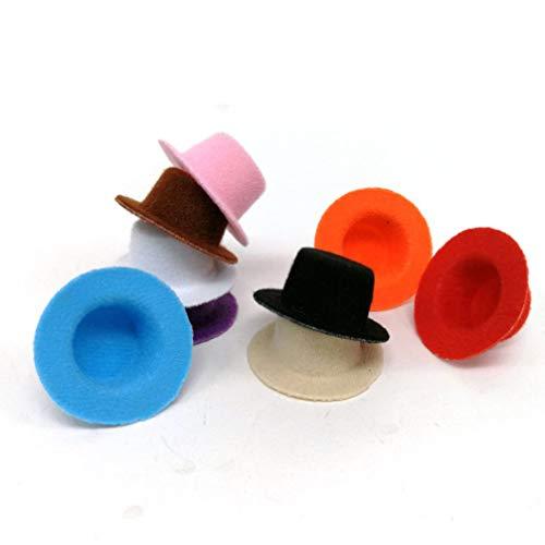 Supvox 9 Piezas Mini Sombrero No Tejido Sombrero Miniatura Sombreros de Fieltro Accesorios de Foto Mini Muñeca Sombrero Suministros de Vestuario