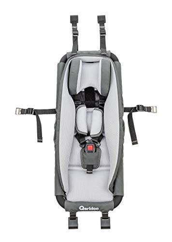 Qeridoo Hängematte mit Sicherheitsrahmen für Kinderanhänger oder Kinderwagen - hervorragende Alternative zu Babysitz oder Babyschale