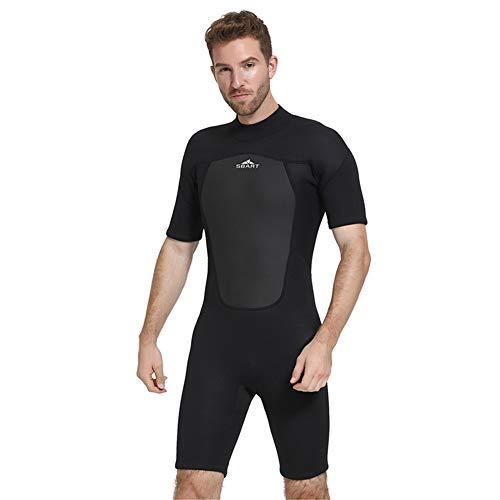 Lxmhz Heren 2mm Duiken pak Snorkeling pak Ademend Een Stuk Neopreen Pak Shorty Wetsuits Sneldrogende Badpak Surf