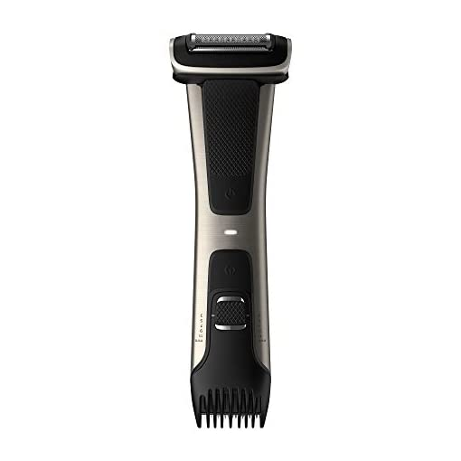 - 31byO3OlNxL - Philips Norelco BG7030/49 Bodygroom Series 7000, Showerproof Dual-sided Body Trimmer and Shaver for Men