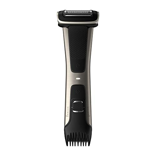 Philips Norelco BG7030/49 Bodygroom Series 7000, Showerproof Dual-sided Body Trimmer and Shaver for...