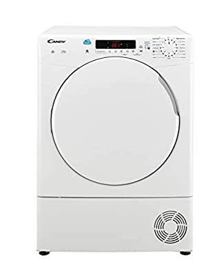 Candy CSC9DF Freestanding Condenser Tumble Dryer, Sensor Dry, NFC Connected, 9 kg Load, White