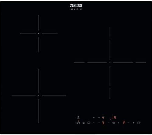 Zanussi ZITX633K Placa inducción, 3 zonas, Temporizador, Calentamiento automático, Avisador de minutos, Bloqueo seguridad, Avisador acústico, Control táctil, Sin Marco, Negro, 60 cm