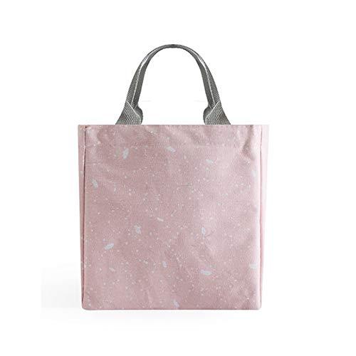 HMMJ Bolsas de Almuerzo aisladas con cordón, Bolsa de Almuerzo Impermeable para Mujeres, diseño de Mano fácil de Llevar para Mujeres, Trabajo, Picnic o Viajes (Color : 07)