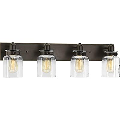 Calhoun Collection Antique Bronze Four-Light Farmhouse Bath Vanity Light
