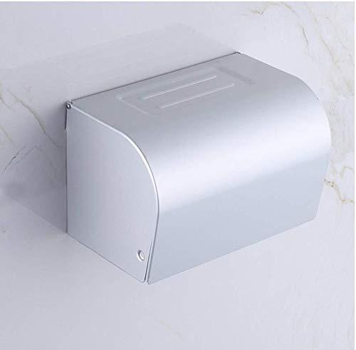 WTT toiletpapierhouder van roestvrij staal, papierrolhouder, houder, papierrolhouder, wandmontage, badkamer, keuken, magazijnrek, metalen verdeler, polijstmiddel, chroom, multifunctioneel, sus304-E, 10 x 4 x 8 inch