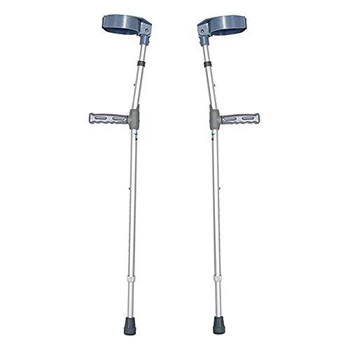 Muletas Axilares Muletas De Antebrazo De Aluminio para Adultos Y Adolescentes Mangos Ligeros Ajustab