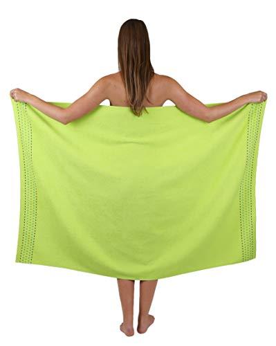 Betz Genua Duschtuch Badetuch Duschhandtuch Größe 100x150 cm 100% Baumwolle Farbe apfelgrün