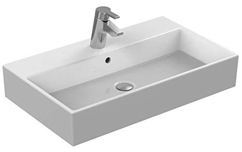 Ideal Standard Waschtisch Strada K078201, weiß, B: 710, T: 420, 1 Hahnloch mittig durchgestochen, Hahnlöcher links und rechts vorgestochen