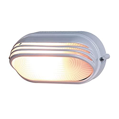 REV 0590056555 Ovalleuchte, Wandlampe Deckenlampe oval, bis 60 Watt, IP44, E27, weiss