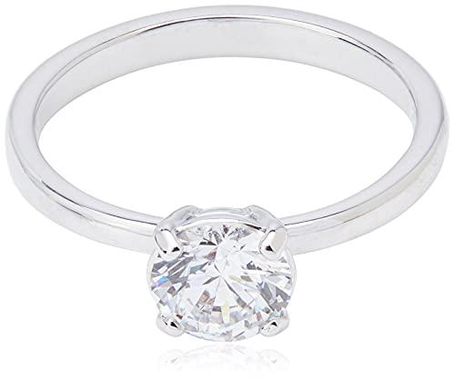 Swarovski Attract Ring, Weißer, Rhodinierter Damenring mit Funkelndem Swarovski Kristall