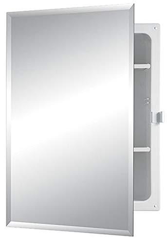 Jensen B7233B85PCX Bevel Mirror Positive Catch Medicine Cabinet, 16″ x 22″