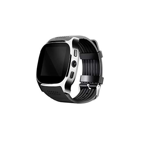 WXZQ T8 Personalidad de la Moda Tarjeta Inteligente Reloj del teléfono Contador de Pasos Deportivo Reloj Inteligente Reloj Android para Hombres y Mujeres Negro