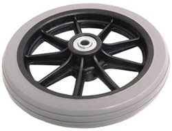 """Price comparison product image Wheel 6"""" GROOVED for NOVA 4202C / 4203 / 4207 / 4208 & Old Style 4202 (Includes Bearings) (Light Grey) - P42052"""