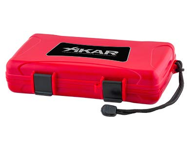 Xikar 5 Count Cigar Travel Humidor - Red