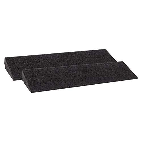 Bordsteinrampe Gummi LxBxH: 800x250x70 mm Set = 2 Stück schwarz (Rampe Gummikeil Rollstuhlrampe Auffahrrampe Auffahrkeil Auffahrhilfe Türschwellenrampe, Autorampe)