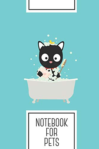Notebook for Pets: Lined Journal with Bathing Cat in a bathtub Design - Cool Gift for a friend or family who loves kitten presents! | 6x9