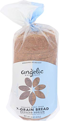 ANGELIC BAKEHOUSE Sprouted 7-Grain Bread, 16 Ounce (Pack of 8)