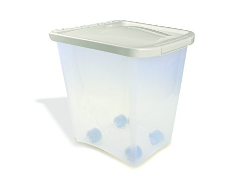 dog food containers Van Ness 25-Pound Food Container with Fresh-Tite Seal with Wheels