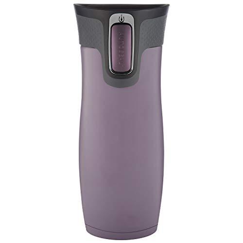 Contigo Unisex– Erwachsene West Loop Trinkflasche, Dark Plum, 470 ml