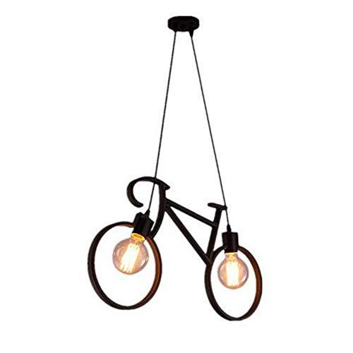 GENGJ E27 Lampadario Moderno Lampadario Lampada da Soffitto personalità Creativa Camera da Letto Bar in Ferro Battuto caffè Lampadario Bicicletta Camera dei Bambini